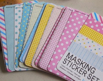 Masking sticker set - 27 sheet pastel tones