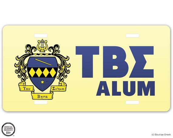 Tbs tau beta sigma sorority crest letters alum license plate for Tau beta sigma letters