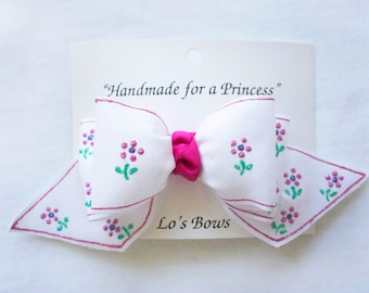 Handmade & Hand Painted Hair Bows for Girls