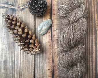 Hand Spun Brown Shetland Yarn