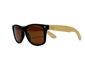 "POLARIZED | Handcrafted Bamboo Sunglasses | ""Obsidian"" Black"