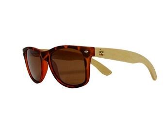 "POLARIZED | Handcrafted Bamboo Sunglasses | ""Calico"" Tortoise Shell"