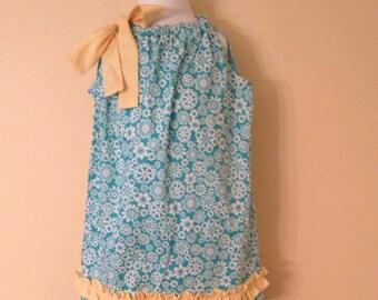Blue Print Pillowcase Dress       SALE!!!   REDUCED PRICE!!!