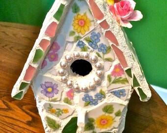 Enchanting Custom Floral Decorative Birdhouse