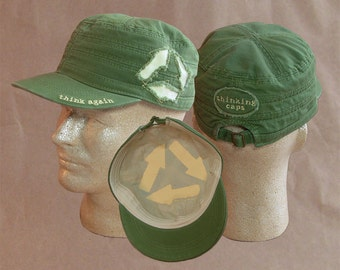 Think AGAIN! 100% Organic Cotton Corps-Style Thinking Cap