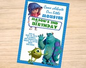Monsters, Inc. Birthday Invitation - Monsters, Inc. Invitation - Monsters, Inc. Invite - Printable - DIGITAL