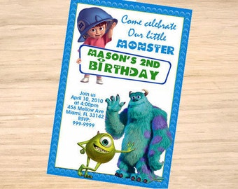 Monsters inc birthday invitation Etsy