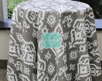 Tablecloth - Premier Prints - RAJI Damask - Spirit Brown - Choose Your Size - Table Linen Wedding Home Decor Dining Kitchen