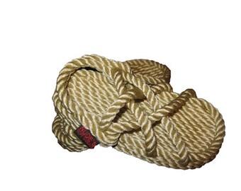 FREE SHIP!-Child's Original Rope Sandal in Beige
