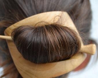 Geometric Hair Clip Hair Barrette, Haarstab, Shawl Pin, Barrette, Hair Pin, Hair Stick,Slide, Wooden Shawl Pin,Hair Comb,Carving