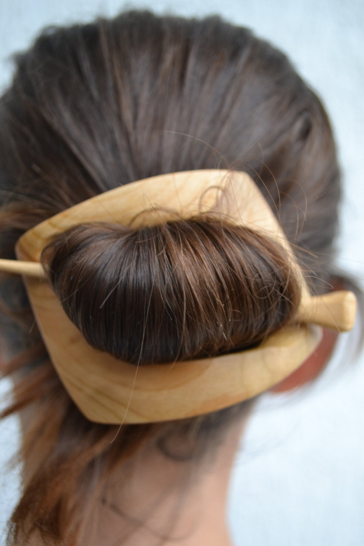 Geometric hair clip barrette haarstab shawl pin