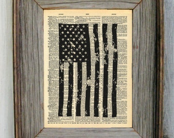 American Flag Dictionary Art Print