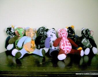 Custom Handmade 18 Inch Fleece Teddy Bear, birthday, christmas, snuggle buddy, baby gift, memory bear, new best friend, baby's fiest friend