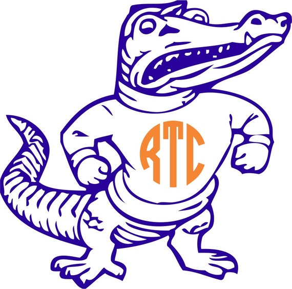 Florida Gator Stickers : Florida gators albert monogram sticker by twangboutiquedotcom
