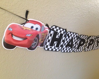 Lightning McQueen Banner, Disney Cars banner, Cars Birthday, Cars Birthday Banner, Disney Cars Birthday