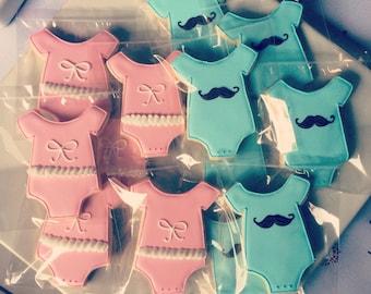 2 Dozen Gender Reveal Cookies - Pink and Blue