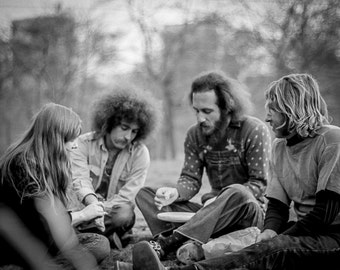 Vintage Black and White Photography Fine Art Print, Hipsters In Central Park