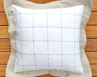 Ultrasoft Euro Square Decorative Sham Pillow White : Rustic euro sham Etsy