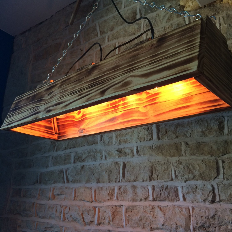 Pool Table Light, Wooden Chandelier, Wooden Pendant Light