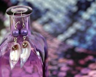Purple Oceana Earrings