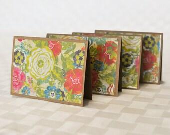 Handmade notecard set, Flower Card Set, Greeting Card Set