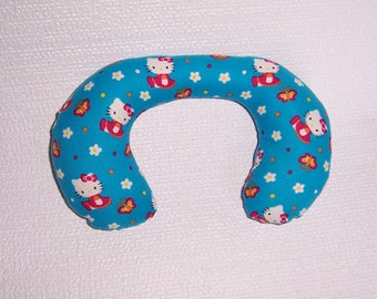 """Baby Neck Roll Pillow with """"Hello,Kitty""""."""