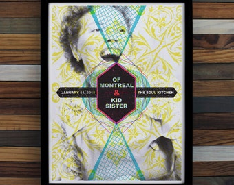 Of Montreal Screen Printed Poster