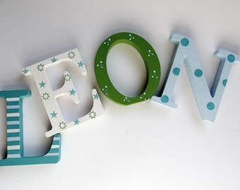 Wooden letters for the baby's room