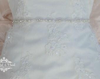 Sienna Sash - Bridal Belt, Wedding Sash, Wedding Dress Belt, Beaded Sash, Jewelled Sash, Vintage Wedding Dress Belt