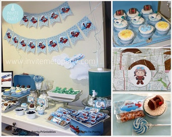 Little Pilot / Little Aviator Printable Party Decorations