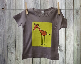 """Fun and Funky """"Giraffe"""" Tshirt for Baby. Perfect for Little Boys!"""