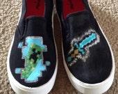 Custom Handpainted Minecraft Shoes