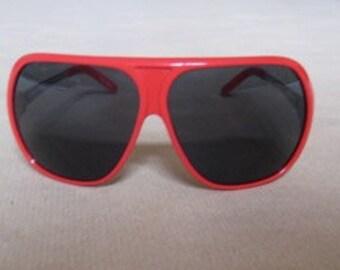 reduced price # RAF SIMONS # by Linda Farrow gallery # red frame sunglasses # original box