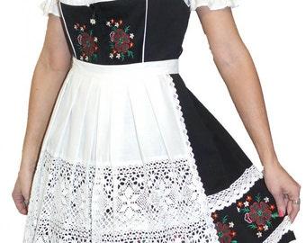 3-Piece Short Blue German Dirndl Dress 2 8 10 12 14 18 S M L