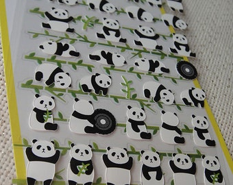 Cute baby panda sticker 2 sheets/ Mignon bébé panda sticker/korean stickers/cute sticker/kawaii panda stickers
