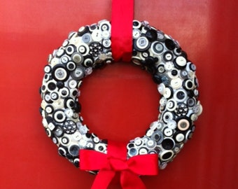 Decorative Button Wreath