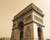 Travel Photography Europe Wall Art Print - Arc de Triomphe, Paris