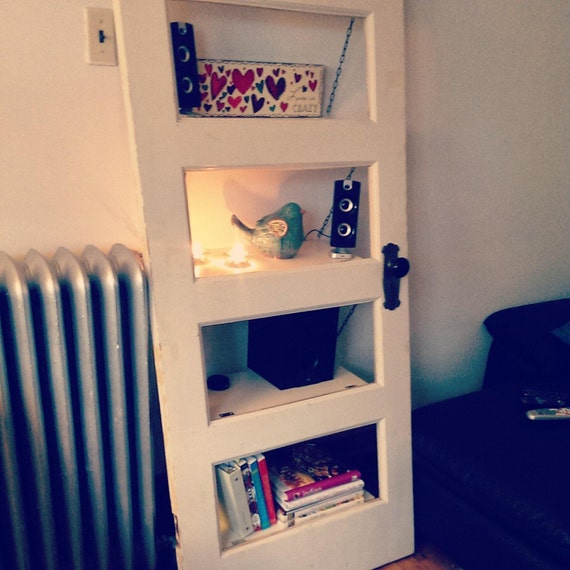 Repurpose Bookcase: Items Similar To Repurposed/Upcycled Door Bookcase / Book