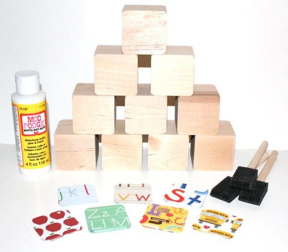 Diy wood baby blocks alphabet blocks baby by nurserytimeblocks for Child craft wooden blocks
