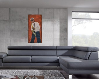 painting   New York jazzman wall decor wall art modern canvas original painting