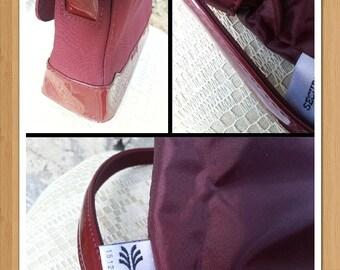 LAURA BIAGIOTTI shoulder bag made in italy vintage biagiotti purse sholder bag little burgundy bag retro style designer bag preloved minimal