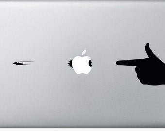 Stickers Macbook 11-13-15-17 inches - Hand Shot