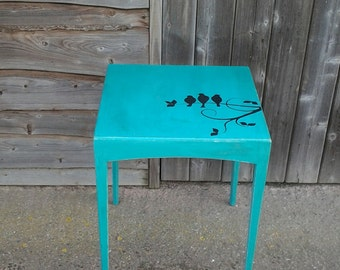 Birds on a Branch Side Table