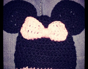 Minnie Mouse baby beanie