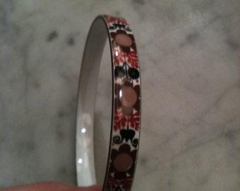 Stall bracelet enameled retro flowers
