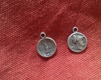 ancient coin pendant Sterling Silver 925