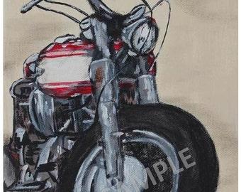 Harley Davidson Shovelhead Print - 8x10