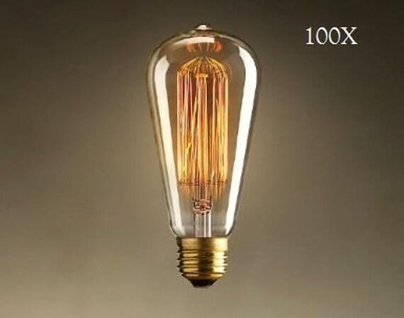 100 pack 60 watt edison bulbs for industrial lighting 60. Black Bedroom Furniture Sets. Home Design Ideas