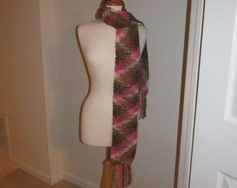 Beautiful Handmade Multi-Color Scarf by C. MARIA