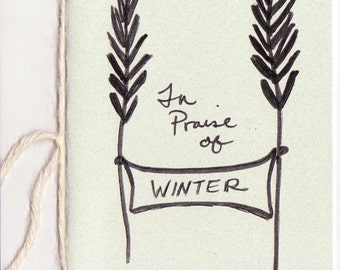 New Zine: In Praise of Winter Zine